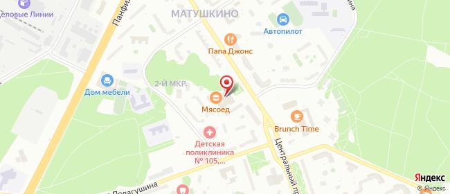 Карта расположения пункта доставки Lamoda/Pick-up в городе Зеленоград