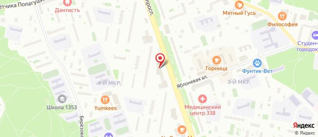 Карта расположения пункта доставки ФИЛИАЛ.pro в городе Зеленоград