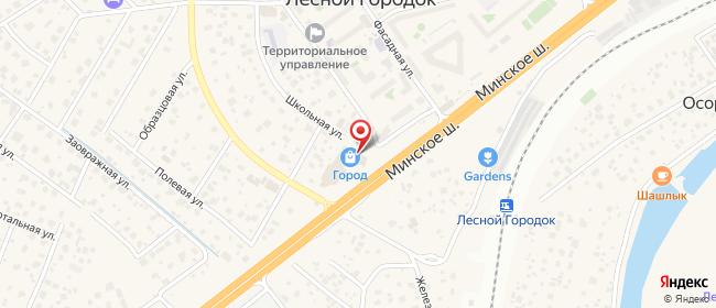 Карта расположения пункта доставки Пункт выдачи в городе Лесной Городок
