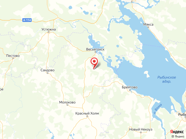 поселок Ананьино на карте