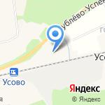Резиденция на Рублёвке на карте Москвы