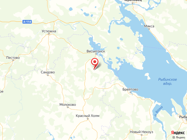 деревня Малое Фоминское на карте