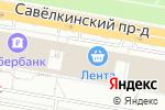 Схема проезда до компании РОДЭНА-трэвел в Москве