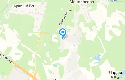 Местоположение на карте пункта техосмотра по адресу Московская обл, г Солнечногорск, рп Менделеево, ш Льяловское, д 1А