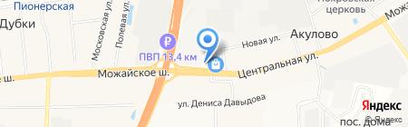 Киоск фастфудной продукции на карте Акулово