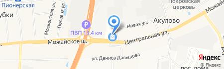 Магазин отделочных материалов на карте Акулово