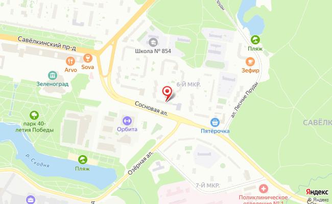 Карта расположения пункта доставки Пункт выдачи в городе Зеленоград
