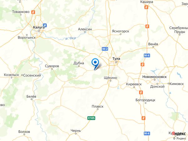 деревня Улыбышево на карте