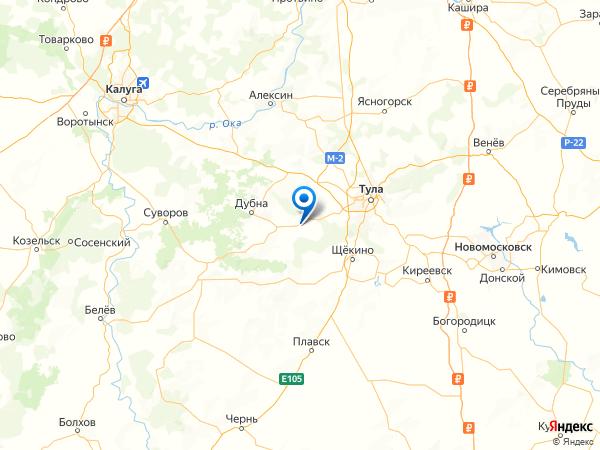 деревня Красавка на карте
