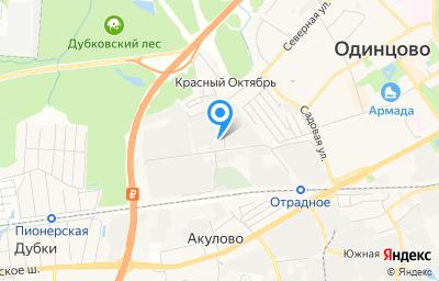 Местоположение на карте пункта техосмотра по адресу Московская обл, г Одинцово, ул Западная, д 10