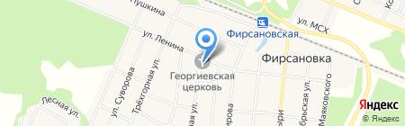 Храм Георгия Победоносца в Фирсановке на карте Химок