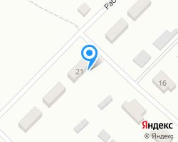 Схема местоположения почтового отделения 171631