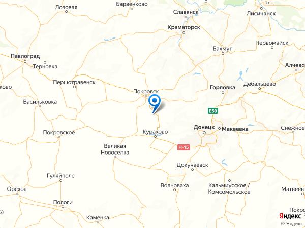 поселок городского типа Вишневое на карте