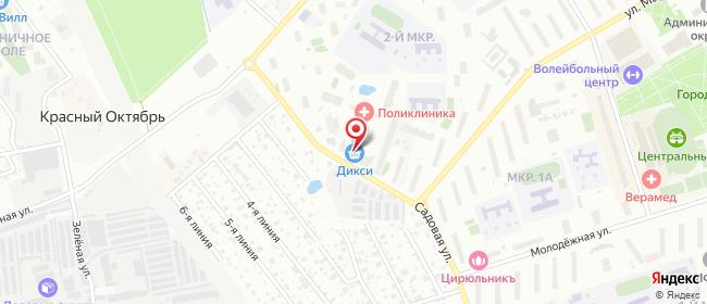 Карта расположения пункта доставки Одинцово Садовая в городе Одинцово