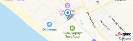 Продуктовый магазин на Светлой на карте Анапы