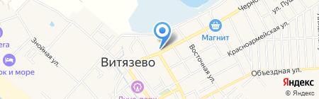 Черноморский на карте Анапы