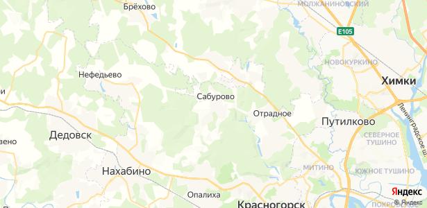 Сабурово на карте