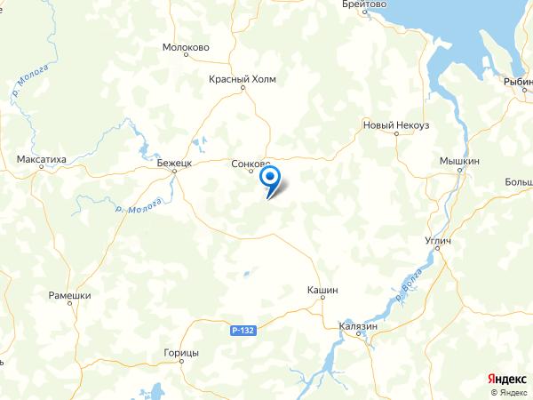 деревня Золотково на карте