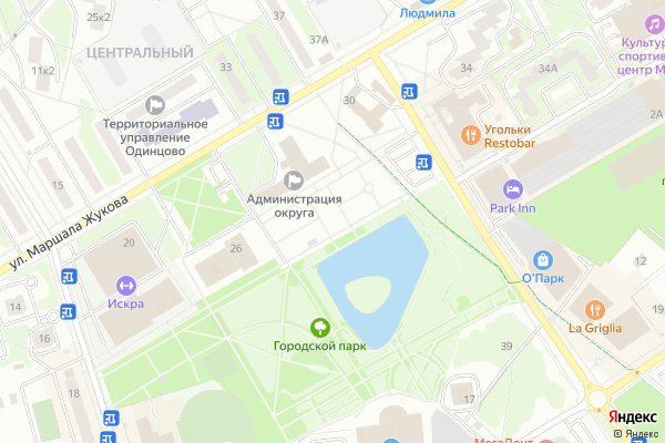 Ремонт телевизоров Город Одинцово на яндекс карте