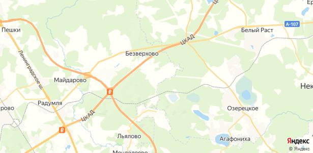 Холмы на карте