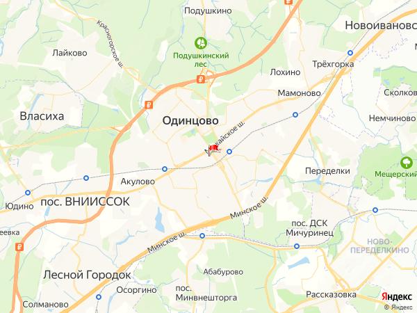 Карта город Одинцово