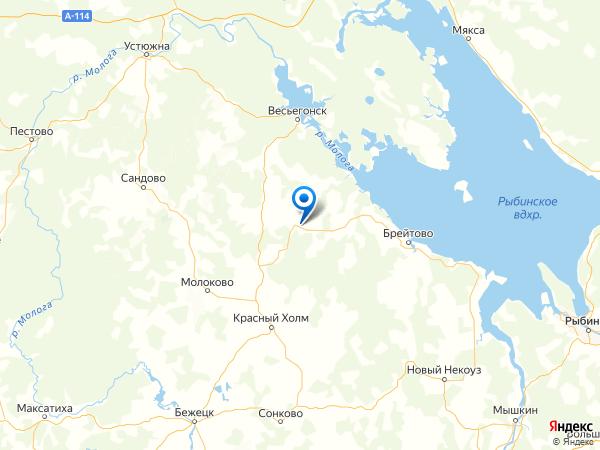 село Мартыново на карте