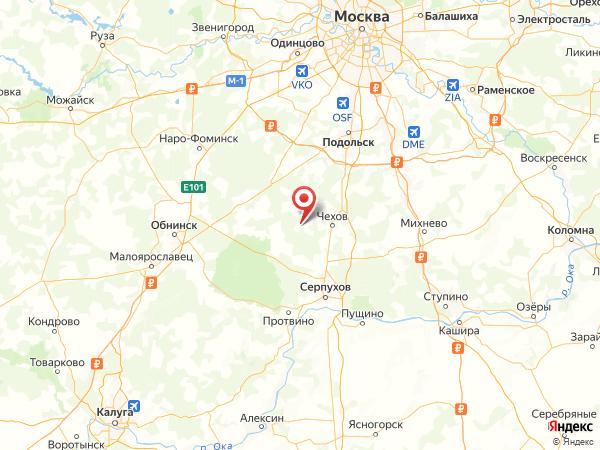 СНТ Дубна на карте