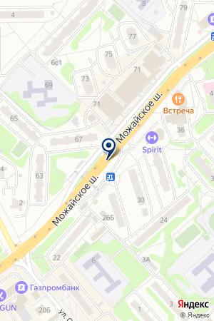 СЕРВИСНАЯ ФИРМА ГОЛАЗАВТОСЕРВИС на карте Можайска
