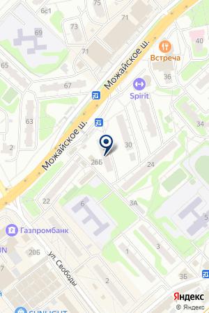ТРАНСПОРТНАЯ КОМПАНИЯ ОДИНЦОВО на карте Одинцово