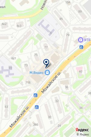ТЦ ГАЛЕРЕЯ на карте Одинцово