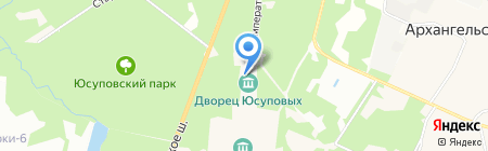 Архангельское на карте Глухово