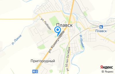 Местоположение на карте пункта техосмотра по адресу Тульская обл, г Плавск, ул Коммунаров, д 70А