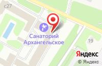 Схема проезда до компании Архангельское в Архангельском