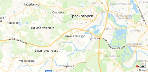 Архангельское на карте