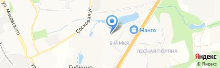 Одинцовский парк на карте Губкино