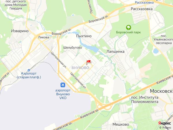 Карта населенный пункт Внуково