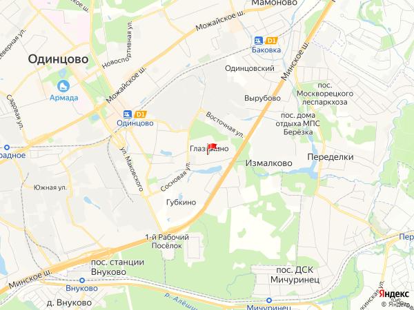 Карта населенный пункт Глазынино
