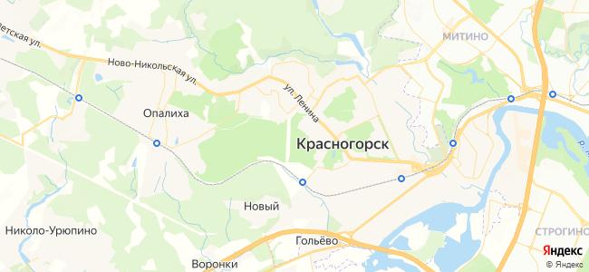Отдых в Красногорске недорого - объекты на карте