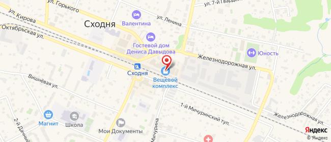Карта расположения пункта доставки Химки Кирова в городе Химки