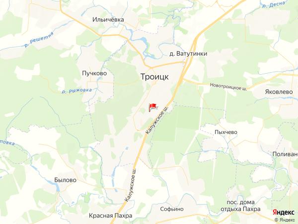 Карта город Троицк