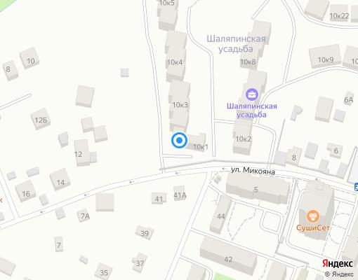 Управляющая компания «Шаляпинская усадьба» на карте Химок