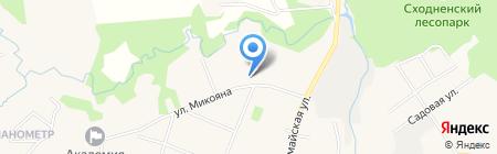 Шаляпинская усадьба на карте Химок