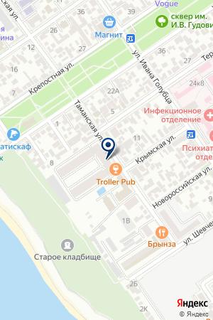 МореЖК на карте Анапы