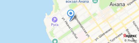 Золотая миля на карте Анапы