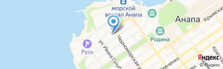 Банк УРАЛСИБ на карте Анапы