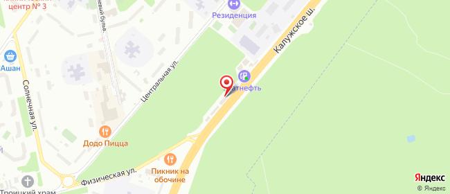 Карта расположения пункта доставки На Калужском в городе Троицк