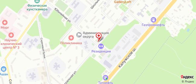 Карта расположения пункта доставки Пункт выдачи в городе Троицк