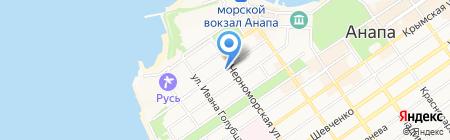 Продуктовый магазин на ул. Калинина на карте Анапы