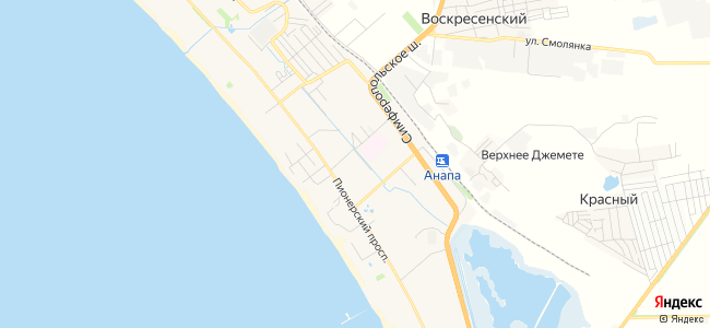 Пансионаты Джемете - объекты на карте