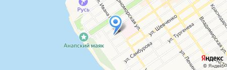 М+ на карте Анапы